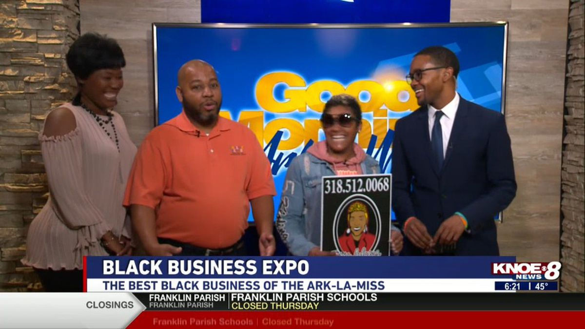 Kenya Roberson joined with Tyler Smith and others discussing the Black Business Expo. Source: (KNOE)