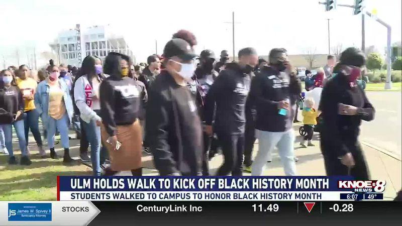 ULM organization hods Black History Month walk on Campus