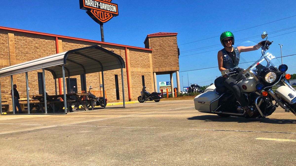 Kaitlin Riley, of Warhawk Harley Davidson, is one of the motorcycle safety instructors for La. State Police. (Source: KNOE)