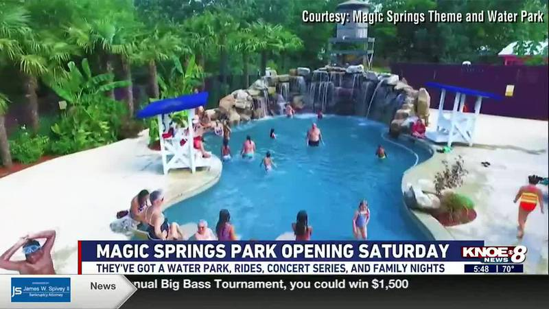 The Magic Springs Theme and Water Park will open for the season May 22. They'll have a concert...