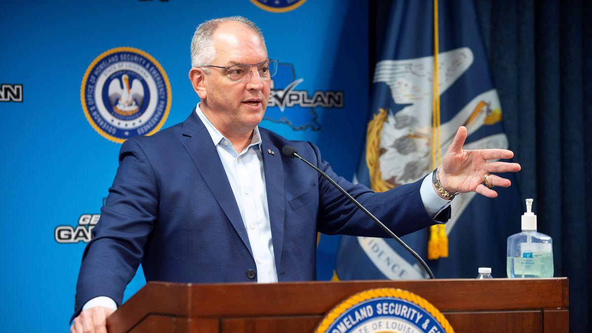 Gov. John Bel Edwards on 6-18-2020 (Source: Associated Press/Travis Spradling)