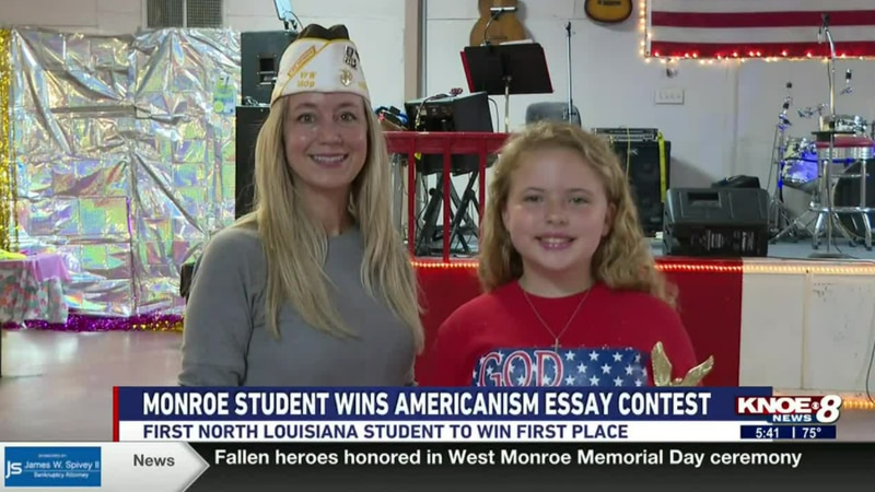 Kesley Morris is the first North Louisiana student to win first place.