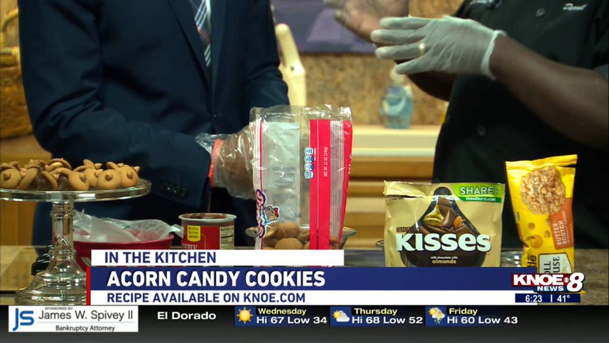 Chef Darrell Teats joins us in the studio on National Cookie day to show us how to make the acorn candy cookie.