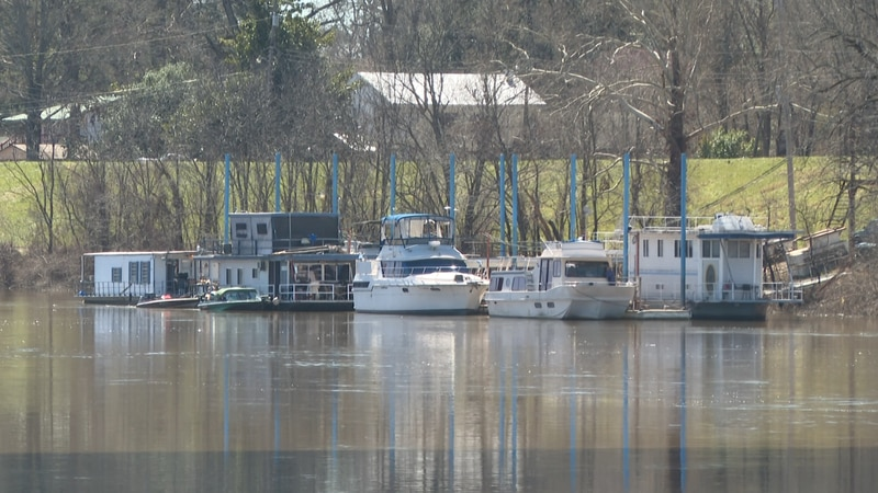 The possible boat marina would be located behind the downtown Monroe River Market.