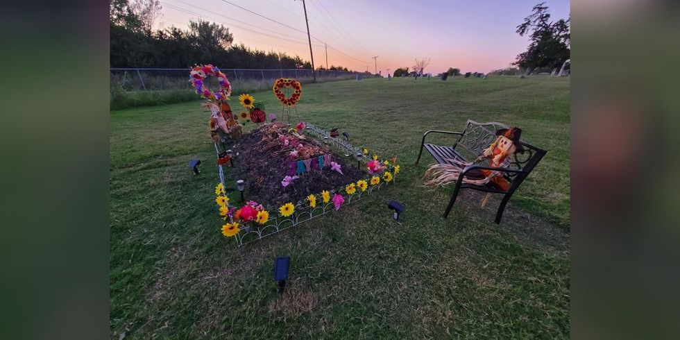 The grave of 8-year-old Jaylin.