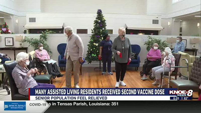 residents at local assisted living facilities have received their second dose of the covid 19...