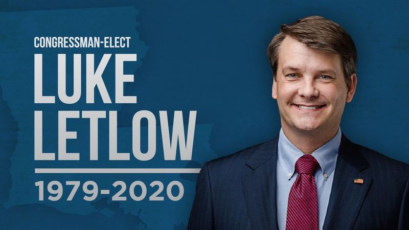Congressman-elect Luke Letlow died from complications to COVID-19 Tuesday, Dec. 29.