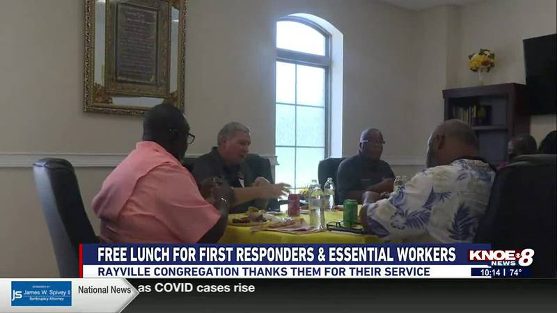 Rayville church shows appreciation to first responders and essential workers