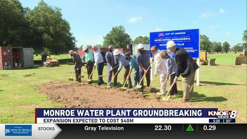 Monroe water plant groundbreaking
