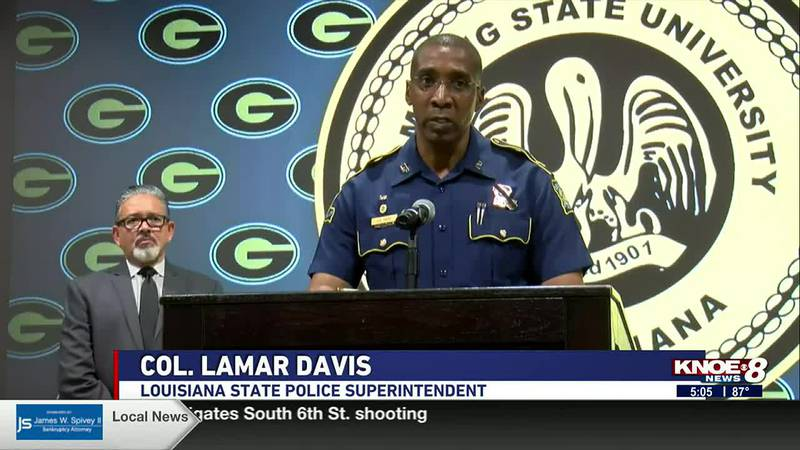 LSP Superintendent Col. Lamar Davis updates students on campus security