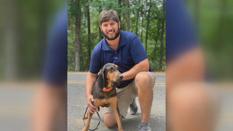 Zach Stephens and his bloodhound, Ruby, found Kenneth Russell after he went missing for almost...