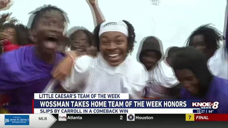 The Wossman Wildcats are voted Little Caesar's Team of the Week following their last minute win...