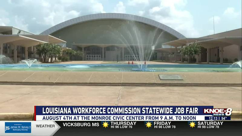 On August 4, LWC's job fair will be at the Monroe Civic Center from 9 a.m. to noon.