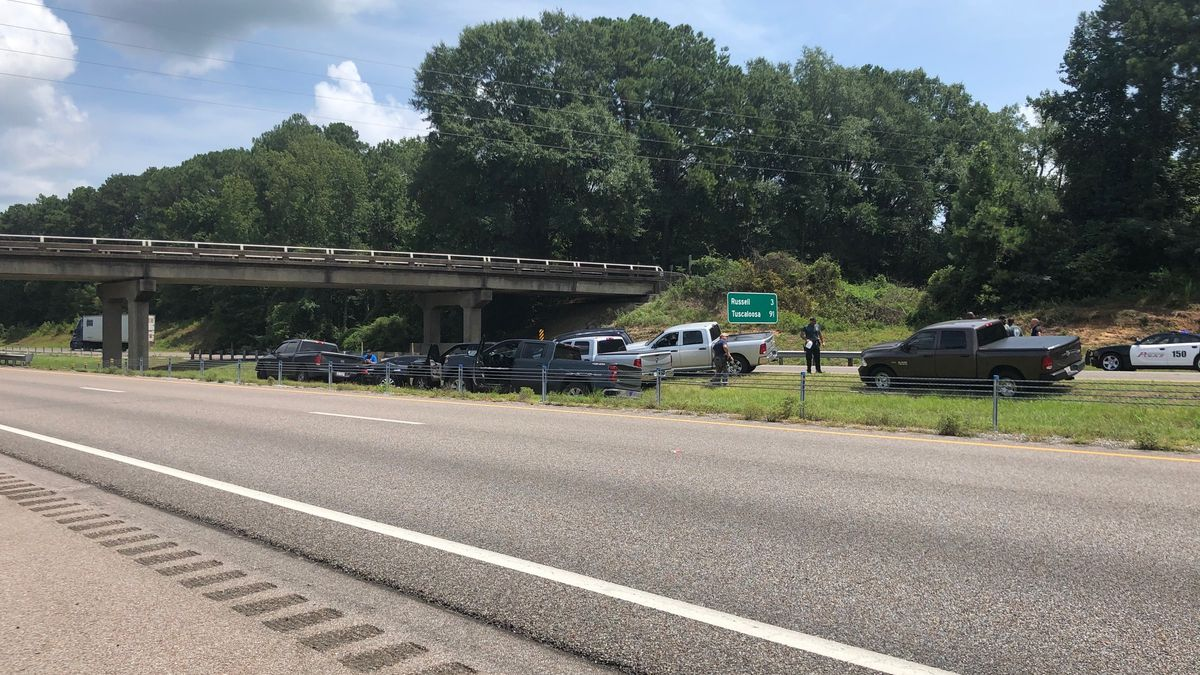 Officers took 41-year old Taniel Cole into custody after he crashed on Interstate 20/59 just east of Exit 157 about 9 miles from the Mississippi-Alabama state line.