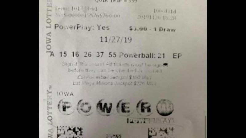 A family in Iowa found a winning lottery ticket a little too late.