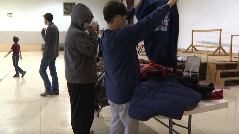 Businesses, radio stations and other support groups donated coats and socks.