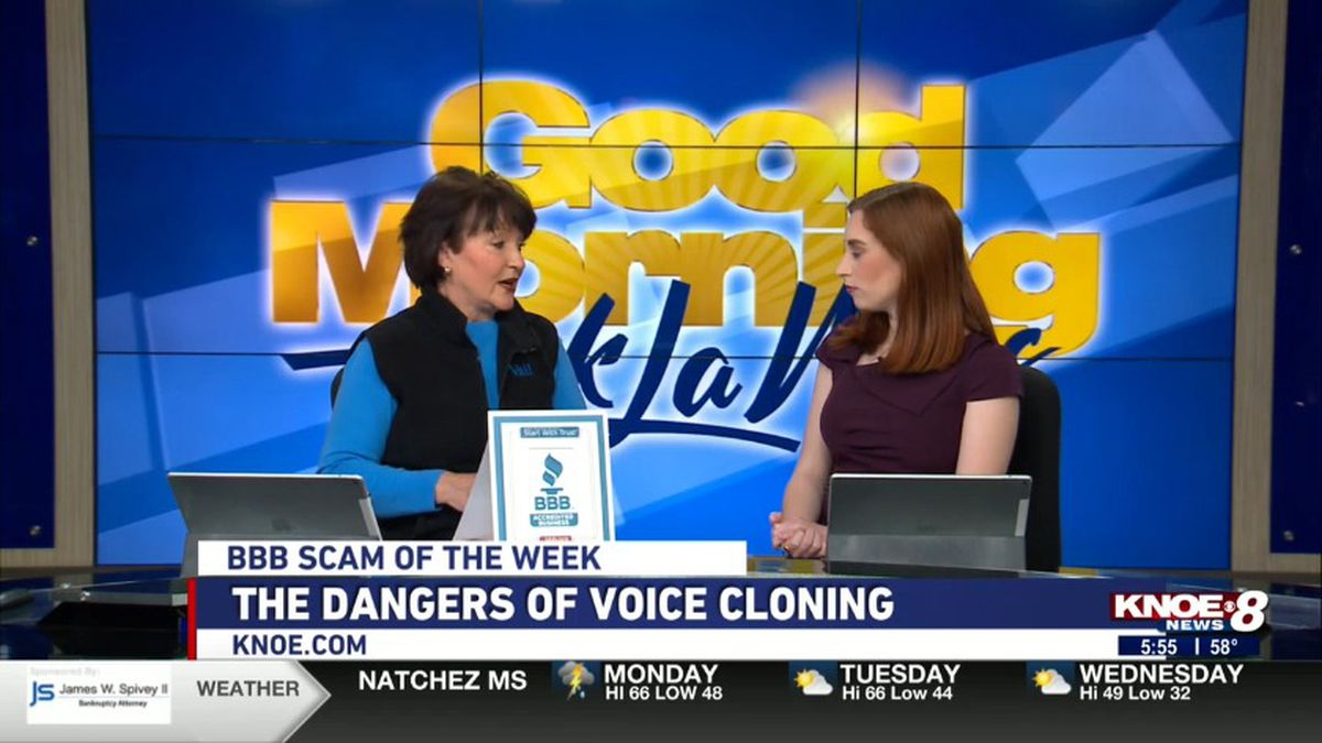 Jo Ann Deal from the BBB of Monroe joined with Jessica Torricelli discussing the dangers of...