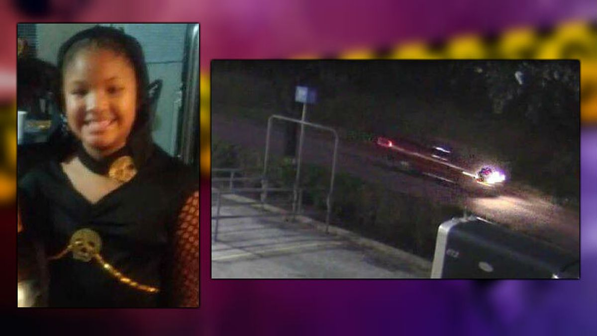 Jazmine Barnes and an image of the red truck from which the shots were fired. - Photos: Harris...