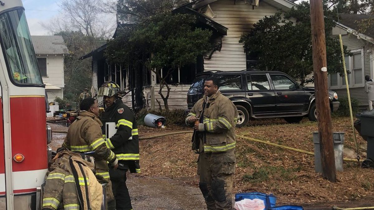 A family is safe following a fire that destroyed their home two days before Christmas.