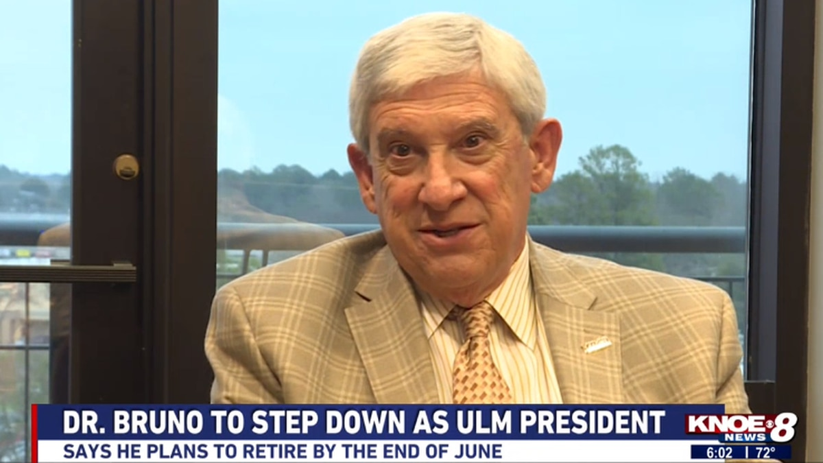 Dr. Nick Bruno sat down with KNOE on Wednesday to discuss his decision to step down as ULM president. Source: (KNOE)