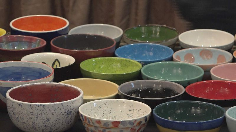 File photo from a previous Empty Bowls event in another area. The bowls in this photo are not...