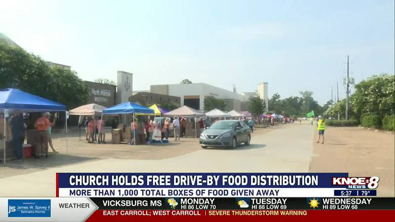 Monroe church holds free drive by food drive