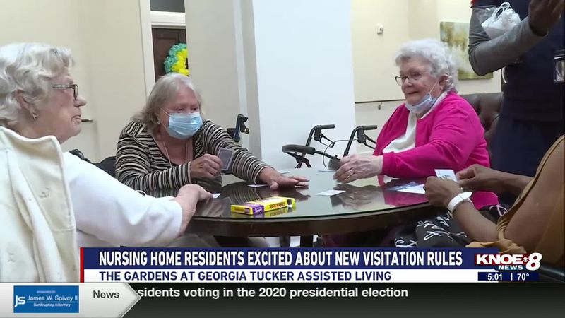 Nursing home residents excited about new COVID visitation rules