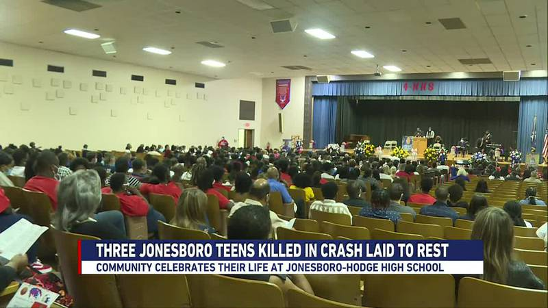 The funeral truly was a celebration of life for three young people taken too soon.
