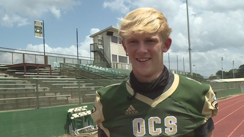 """In this week's """"Ace Watch,"""" Sports Director Aaron Dietrich profiles OCS quarterback Hunter..."""