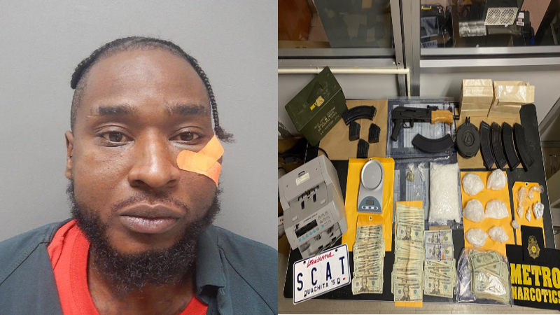 35-year-old Monta Allen, man accused of multiple narcotic charges in Ouachita Parish.