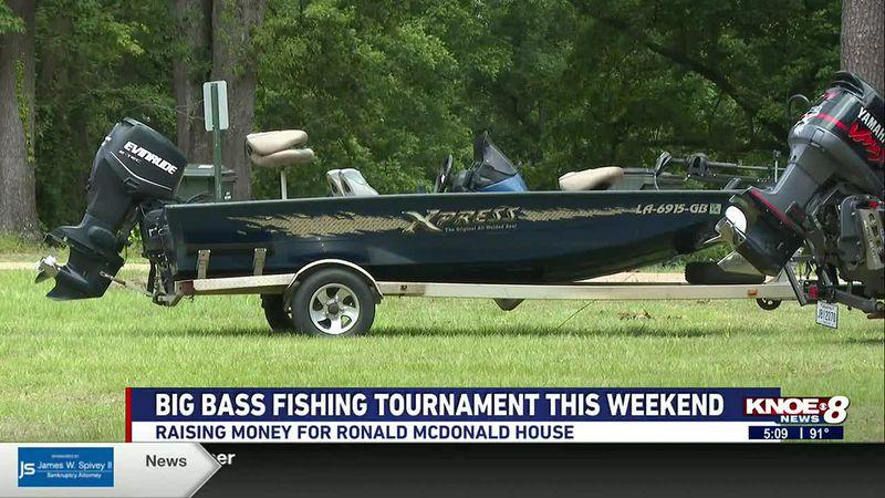 The fishing tournament raises money for the Ronald McDonald House in Monroe.