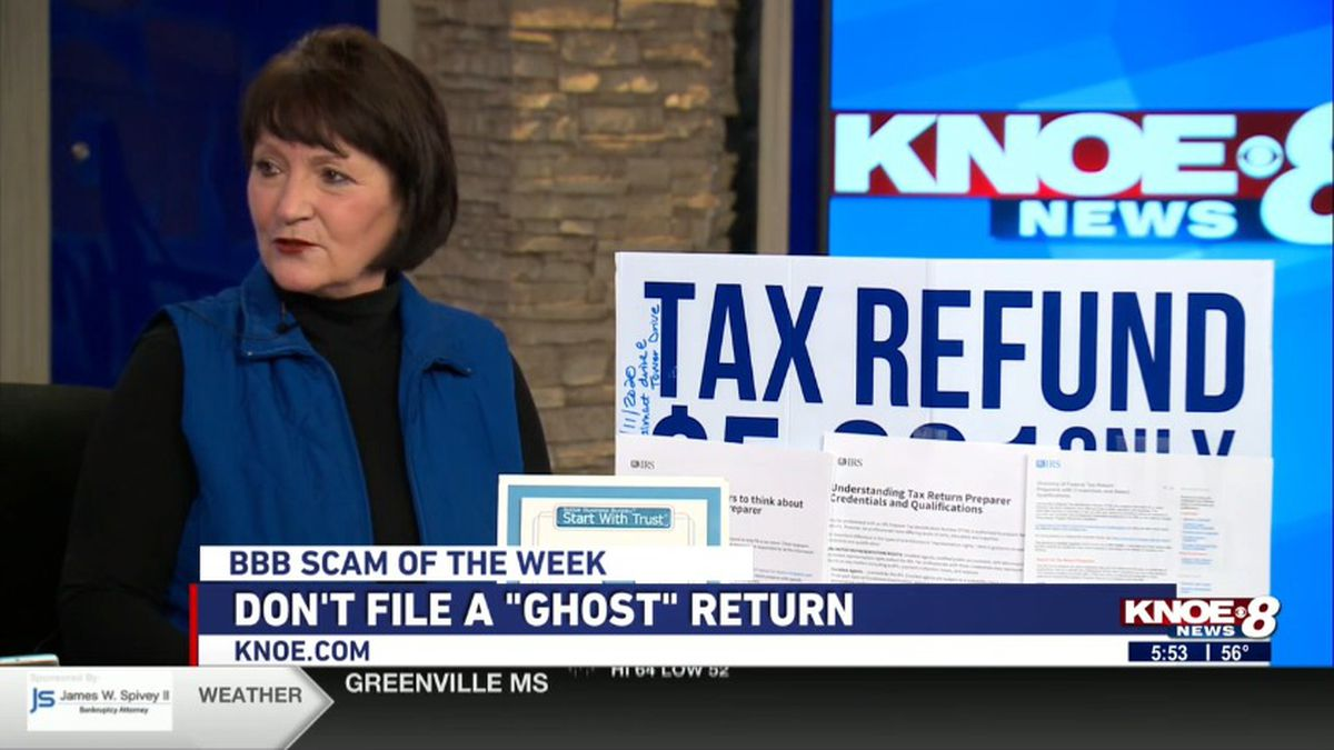 Joann Deal from the BBB of Monroe on &amp;quot;ghost&amp;quot; filing. <br />Source: (KNOE)