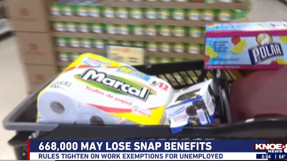 Executive Director of Feeding Louisiana, Korey Patty, said he thinks the changes coming to the SNAP program could hurt hungry Americans. Source: (KNOE)