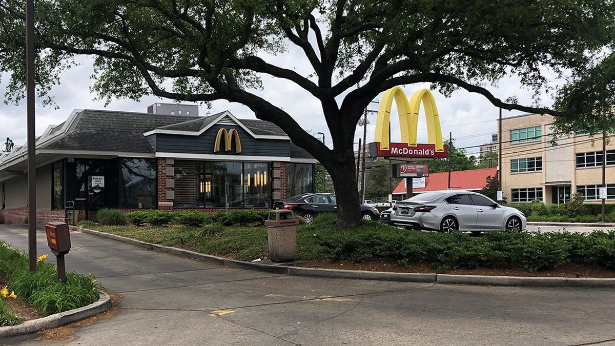 A man says he was held up at gunpoint in the drive thru at a McDonald's in Baton Rouge.