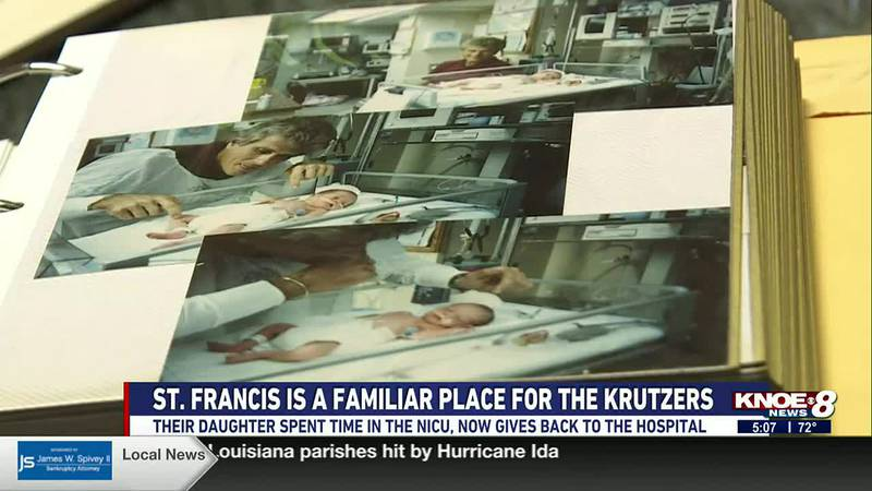 The Krutzer Family had to rely on St. Francis when their daughter Tori was born about 2 months...