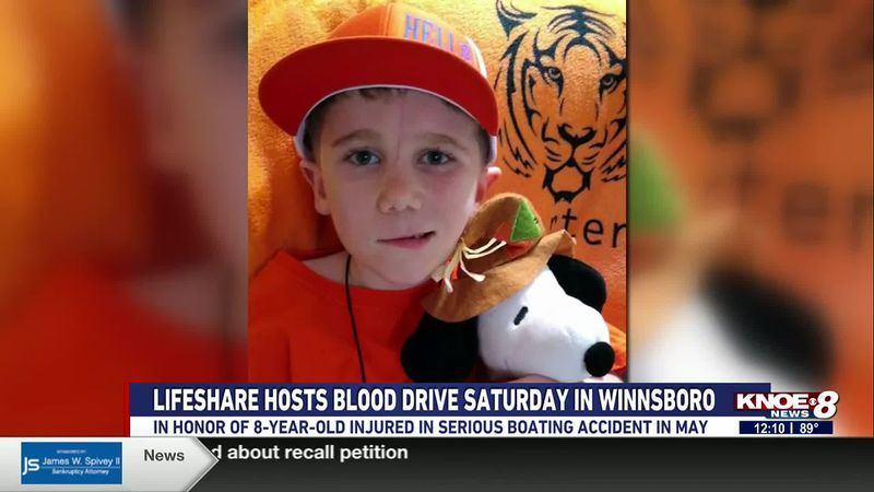 A boating accident left 8-year-old Carter Robertson with significant head and hand injuries in...