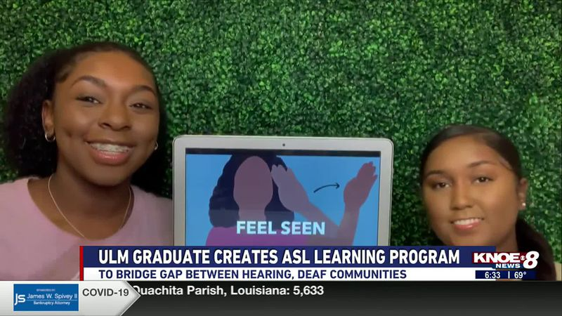 A ULM graduate launched a new website aimed at teaching others American Sign Language to help...