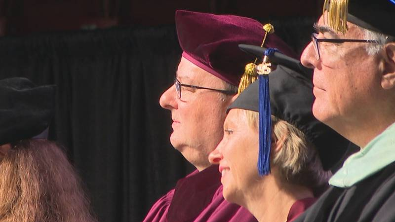 ULM celebrates Dr. Ronald Berry as 9th university president. he is pictured with his wife First...