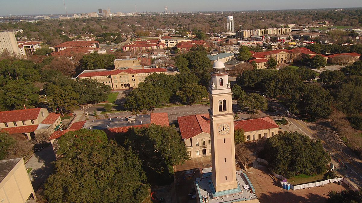 File photo of the Memorial Tower on the LSU campus in Baton Rouge, La.
