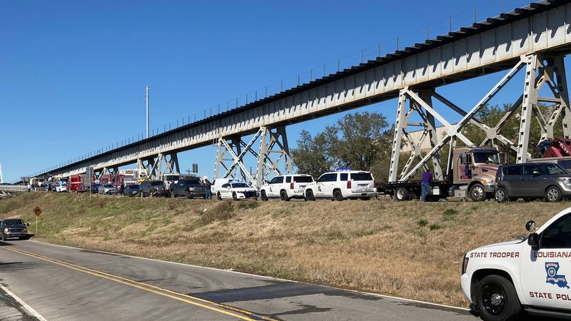 """Louisiana State Police Troopers are investigating a crash on the US 190 """"old"""" Mississippi River..."""