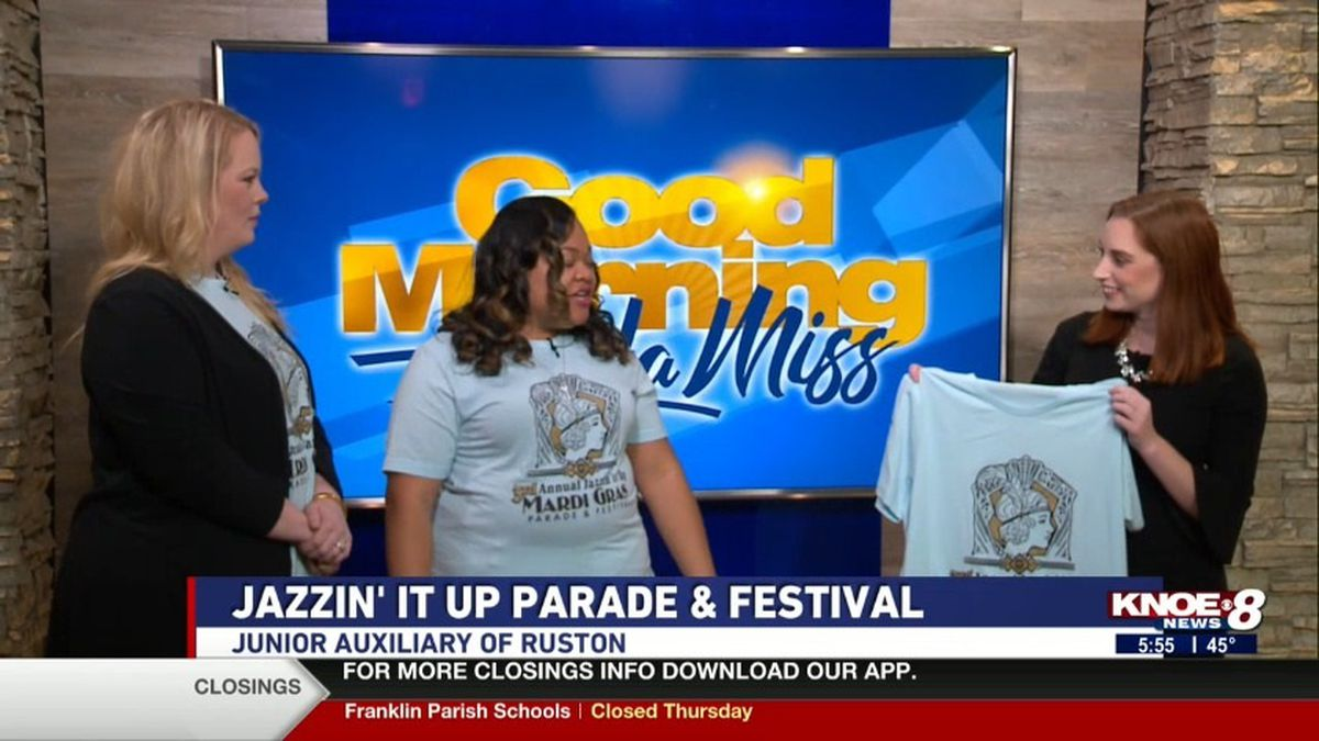 Junior Auxiliary of Ruston members Victoria Kent and Morgan Thornhill joined with Jessica discussing Ruston's 3rd annual Mardi Gras parade and festival. Source: (KNOE)