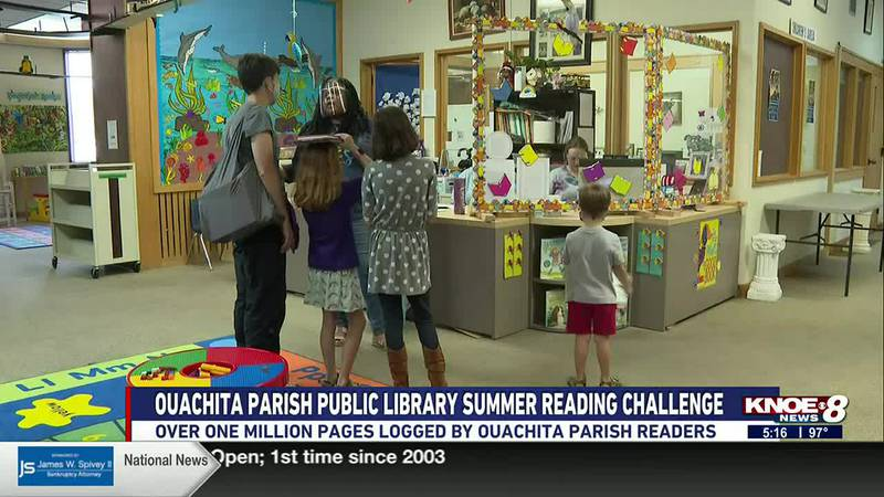 Ouachita Parish readers logged over one million pages by the end of the two-month-long challenge.