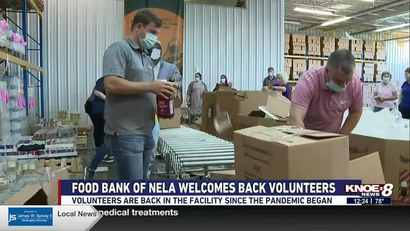 The Food Bank of Northeast Louisiana is welcoming back volunteers this month for the first time...