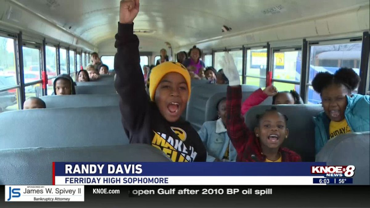 Kids get pumped for the trip. (Source: KNOE)