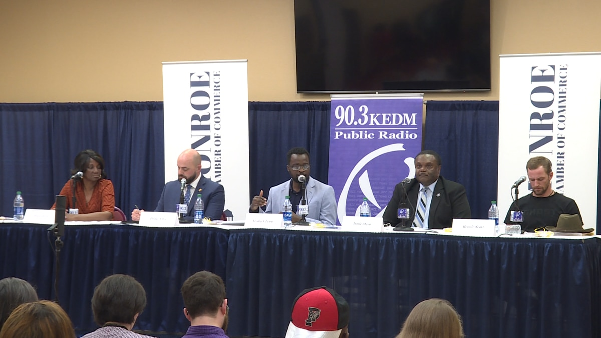 Monroe's mayoral candidates met at the convention center Monday night for a public forum.Source: (KNOE)