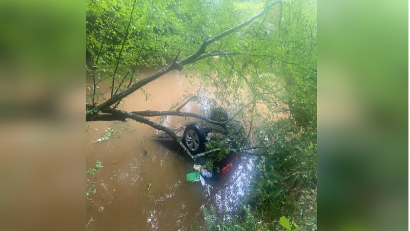 LDWF agents successfully rescued a woman after a traffic accident in Union Parish