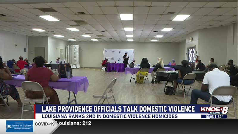 Officials from Lake Providence held a round table about domestic violence on Saturday.