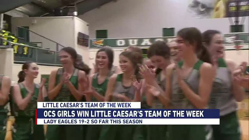 The Lady Eagles win Little Caesar's team of the week.