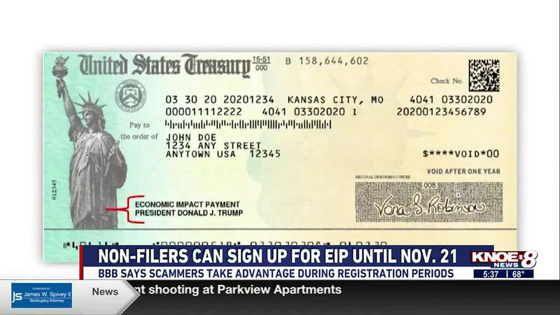 The Better Business Bureau has some tips for non-filers when registering for future stimulus...