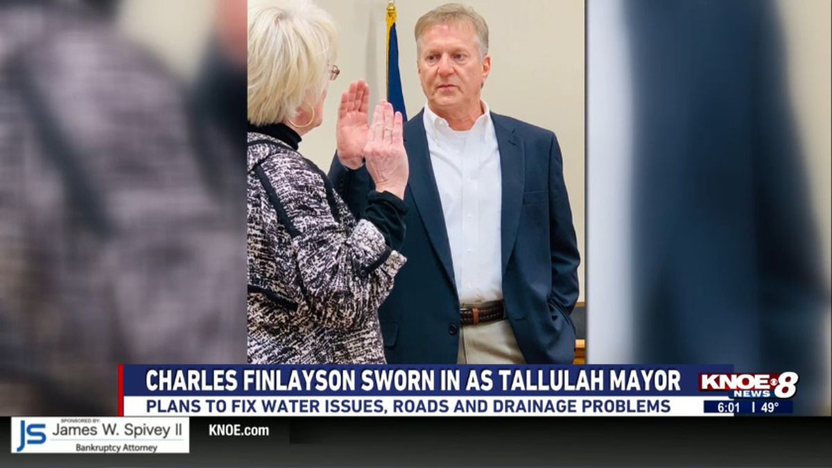 Finlayson takes the oath.